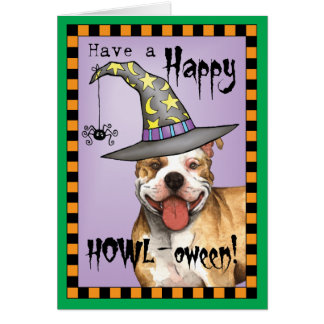 Pit Bull Witch Card