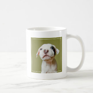 Pit Bull With Black Spotted Eye Coffee Mug