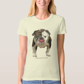 Pit Bull with Lipstck and pearls T-Shirt