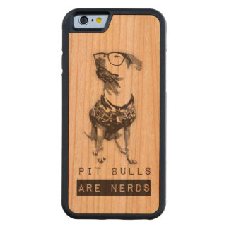 Pit Bulls are Nerds Wood iPhone Case
