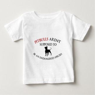 Pit bulls design cute baby T-Shirt