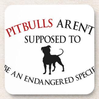 Pit bulls design cute beverage coaster