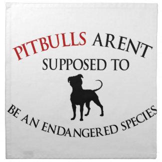 Pit bulls design cute napkin