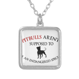 Pit bulls design cute silver plated necklace