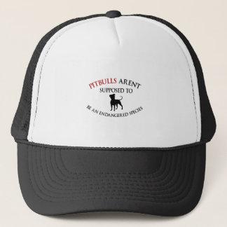 Pit bulls design cute trucker hat
