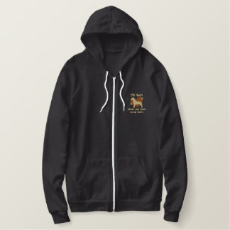 Pit Bulls Leave Paw Prints Embroidered Hoodie