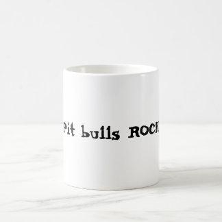 Pit bulls ROCK! Basic White Mug