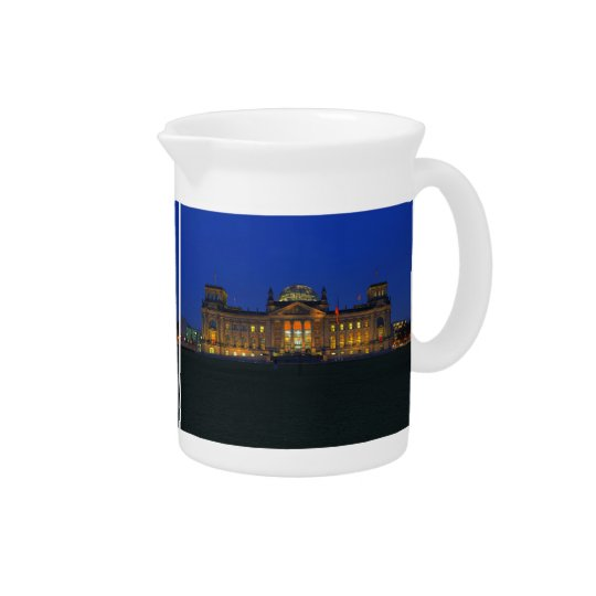 Pit Cher Berlin Reichstag to the blue hour Drink Pitcher