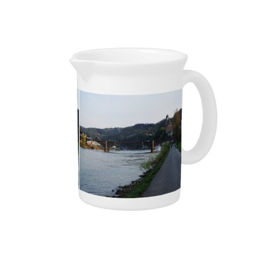 Pit Cher Cochem Moselle bank in the evening Pitcher