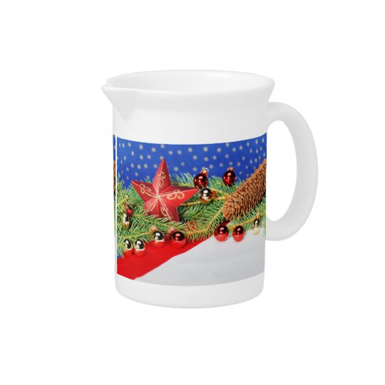 Pit Cher glad Christmas Beverage Pitcher