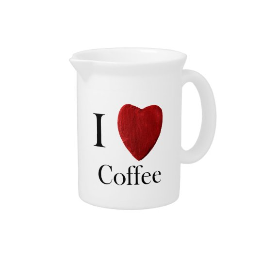 Pit Cher I love Coffee Pitcher