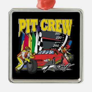 Pit Crew Racing Metal Ornament