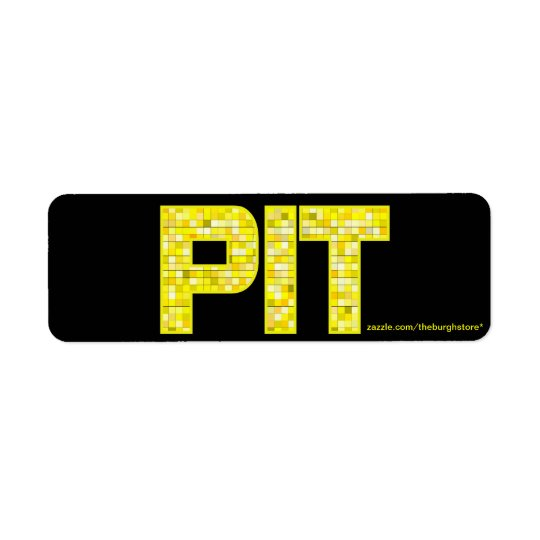 PIT Tile Return Address Stamp Return Address Label