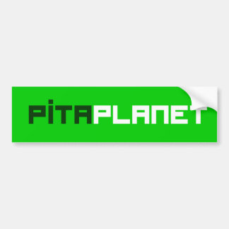 Pita Planet Font (GW) Bumper Sticker