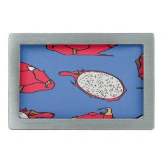 Pitaya fruit pattern rectangular belt buckle