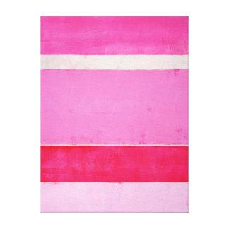 'Pitaya' Pink Abstract Art Canvas Print