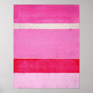 'Pitaya' Pink Abstract Art Poster