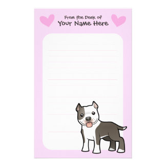 Pitbull / American Staffordshire Terrier Love Customized Stationery