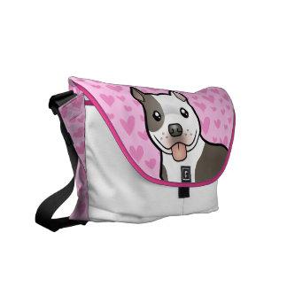 Pitbull / American Staffordshire Terrier Love Messenger Bag