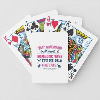 Pitbull Awkward moment Bicycle Playing Cards
