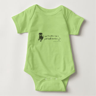 pitbull baby bodysuit
