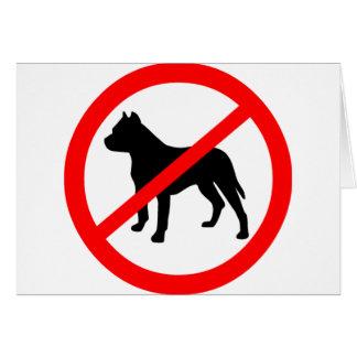 pitbull ban.png greeting card