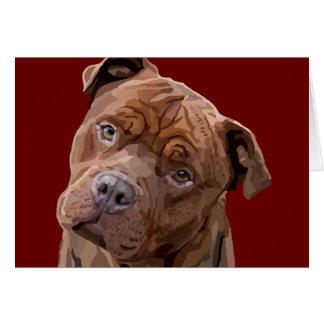 "Pitbull ""Benz"" Greeting Card"