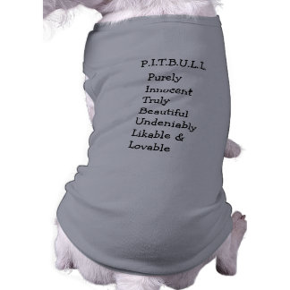 "Pitbull ""Benz"" of Fences For Fido DOG SWEATER Shirt"