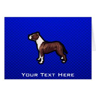 Pitbull; Blue Greeting Card