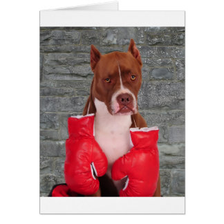 Pitbull Boxer Greeting Card