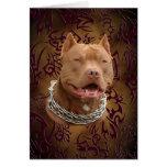 Pitbull brown tribal tattoo