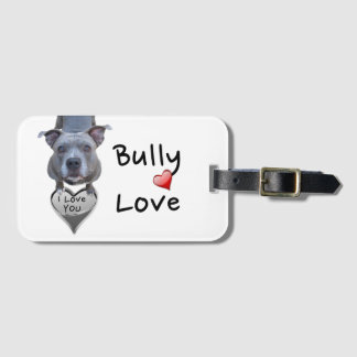 Pitbull Bully Love Luggage Tag