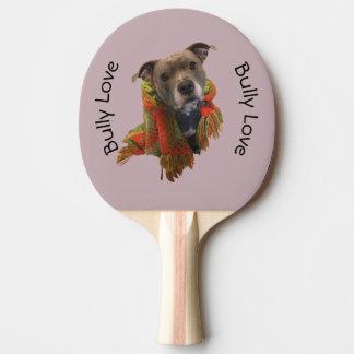 Pitbull Bully Love Pink Ping Pong Paddle