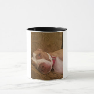 Pitbull Coffee Mug, white with black handle Mug