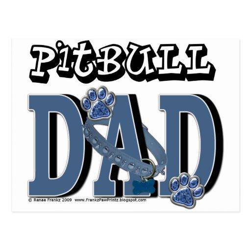 Pitbull DAD Post Card