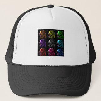 pitbull dog art trucker hat