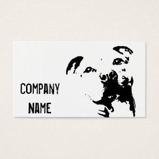 Pitbull Dog Business Card