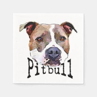 Pitbull dog disposable napkins