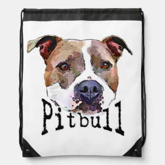 Pitbull Dog Drawstring Bag