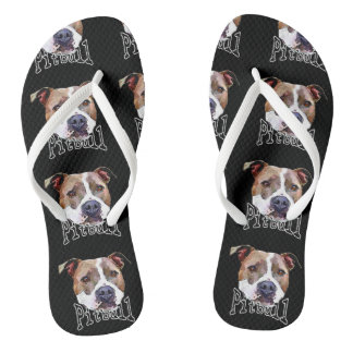 Pitbull Dog Flip Flops
