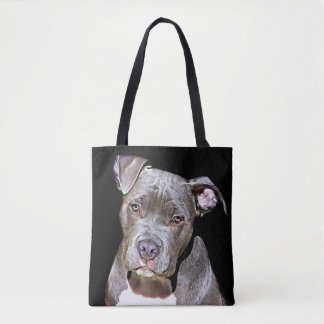 PITBULL DOG FUNNY TOTE BAG