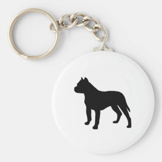 Pitbull Dog Keychain