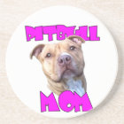 Pitbull dog Mom Coaster