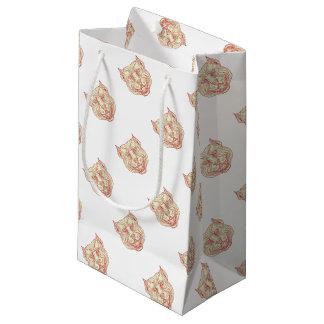Pitbull Dog Mongrel Head Mono Line Small Gift Bag