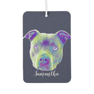 Pitbull dog personalized  car air freshener