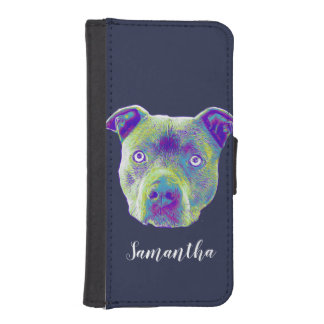 Pitbull Dog personalized wallet case