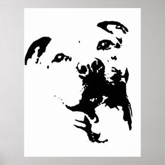 Pitbull Dog Poster