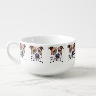 Pitbull Dog Soup Mug