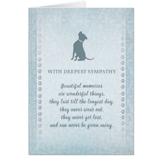 Pitbull Dog Sympathy Beautiful Memories Greeting Card