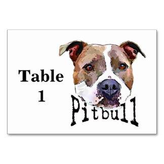 Pitbull dog table card